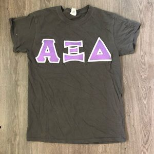 alpha xi delta iron on tee